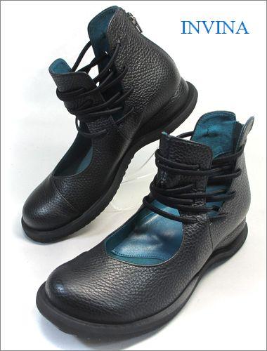 invina インビナ iv2218bl  ブラック 両足の画像