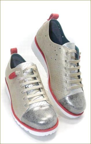 invina インビナ iv2411go  シルバーゴールドレッド 右靴の画像