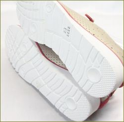 invina インビナ iv2411go  シルバーゴールドレッド 靴底の画像