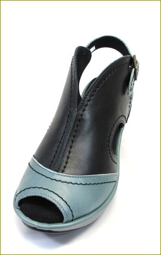 invina インビナ iv4101bl ブルーグレイ ブラック 左靴の画像