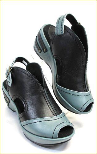invina インビナ iv4101bl ブルーグレイ ブラック 右靴の画像