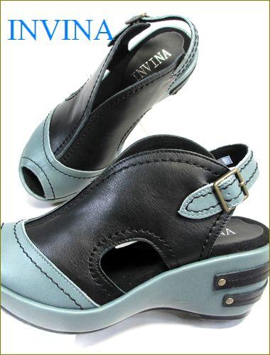 invina インビナ iv4101bl ブルーグレイ ブラック 両足の画像
